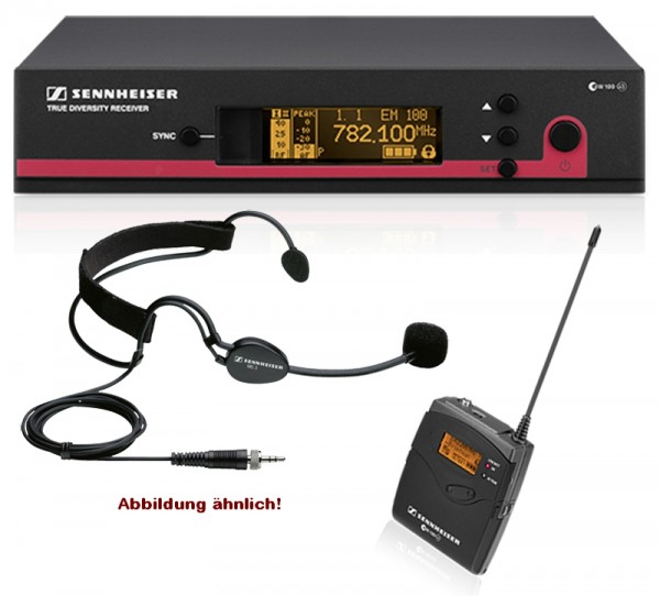 Drahtloses Mikrofonsystem mit Headset Sennheiser EW100