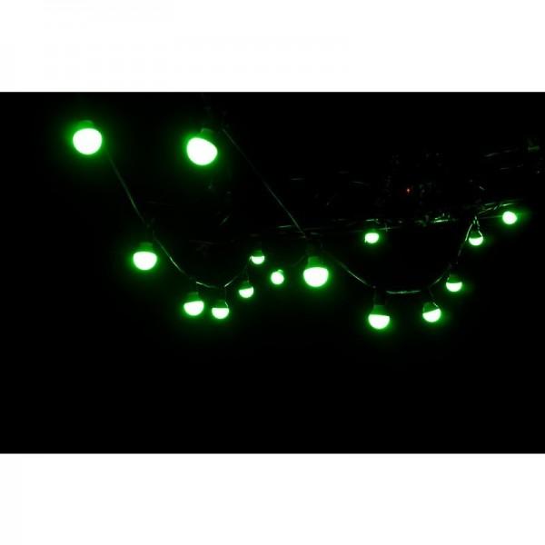 Illu-Kette Lichterkette 10 Meter inkl. 19 LED Leuchtmittel RGB+WW