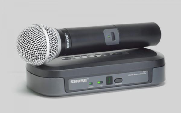 Drahtloses Mikrofonsystem mit Handsender PG58 Shure PG24E