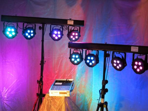 LED Scheinwerfer Set 5x3W für bis zu 80 Personen