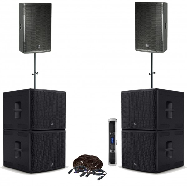 "LD Systems PA-Set 2x12"" Top, 4x 15"" Sub"