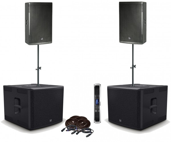 "LD Systems PA-Set 2x12"" Top, 2x 15"" Sub"